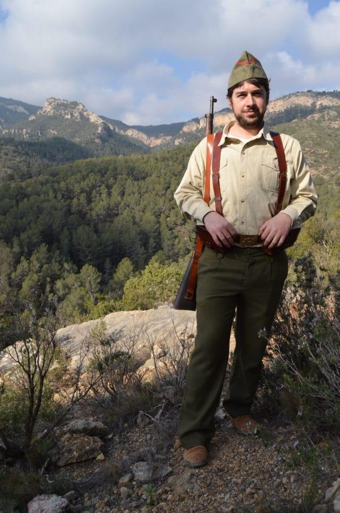 Soldado republicano en el Pirineo